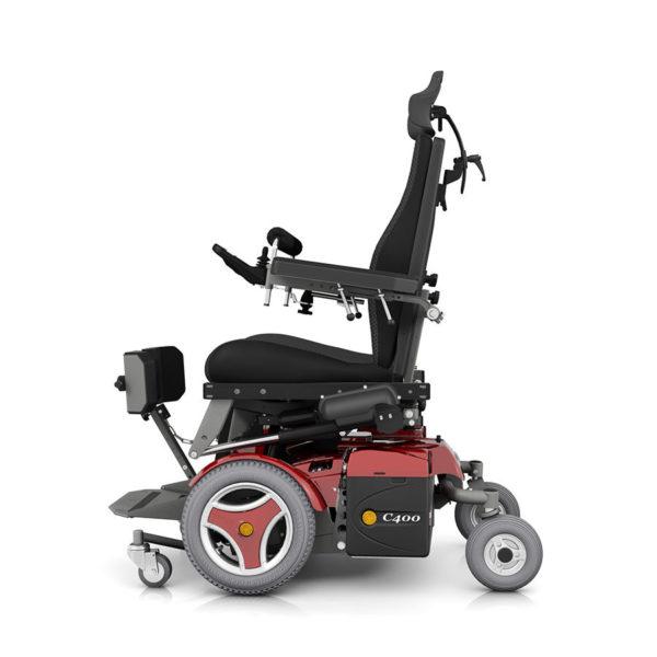 Permobil c400 vs carrozzina con seduta verticalizzante per for Joystick per sedia a rotelle