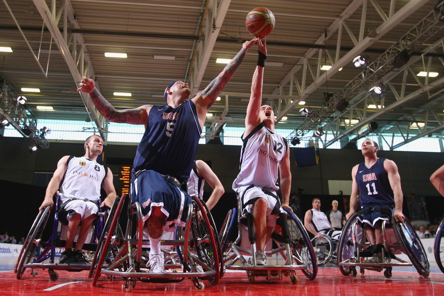 basket in carrozzina per disabili