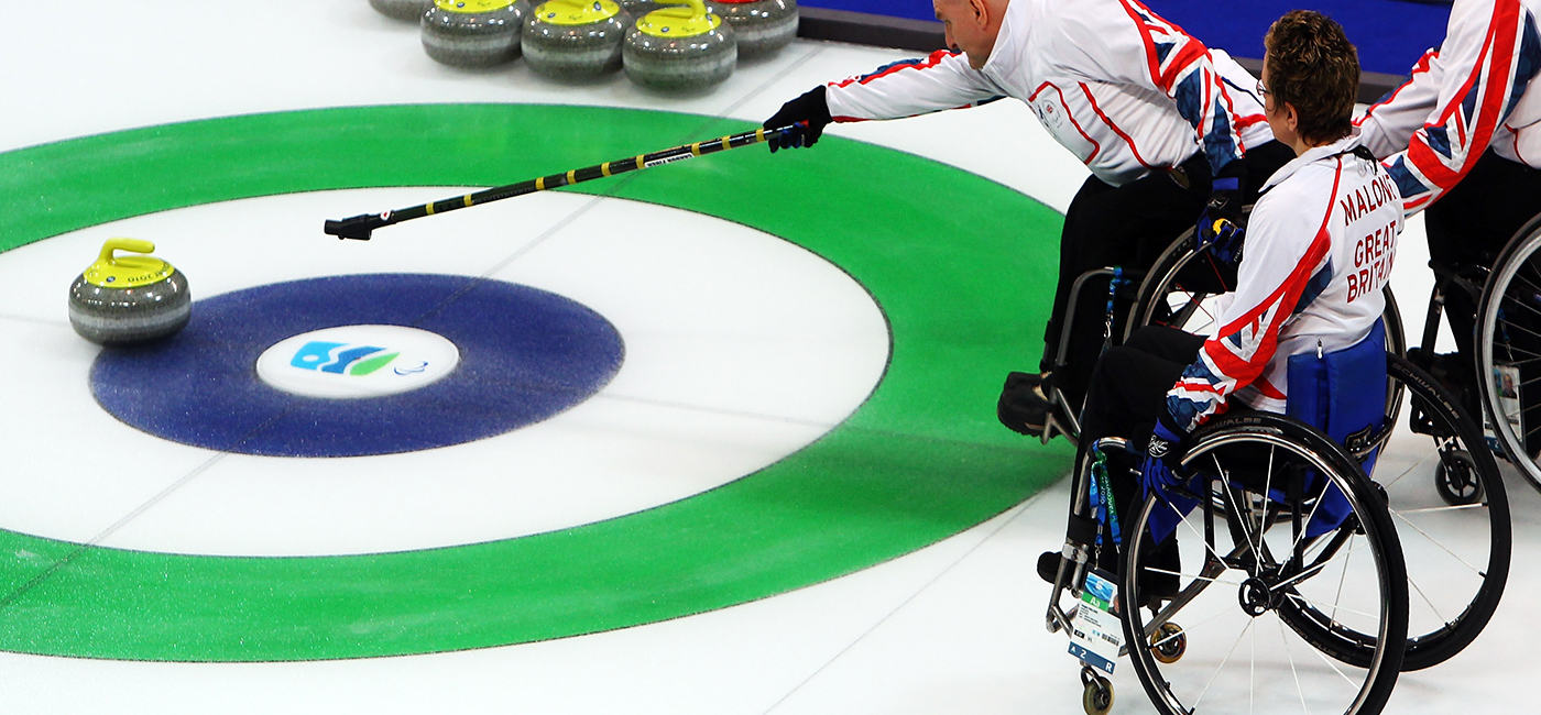 curling-wheel curling per disabili in carrozzina