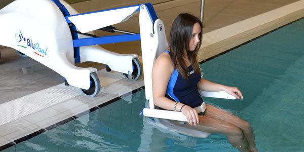 BluPool Sollevatore per piscine per trasferimento persone disabili