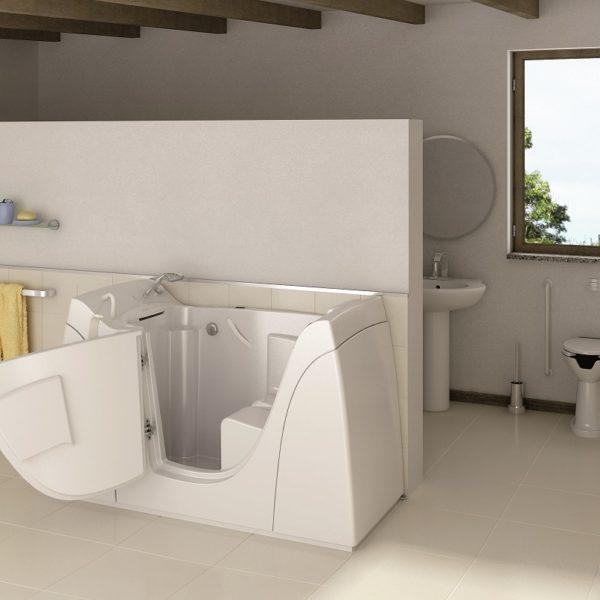 Antigua vasca con sportello per disabili e anziani relax - Vasca bagno con porta ...
