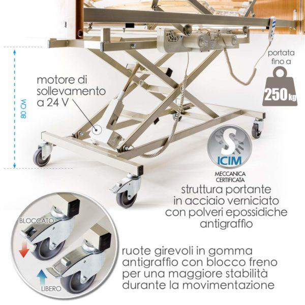 Letto Degenza Ospedaliero Ortopedico 6