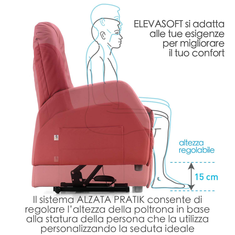 Poltrona alzapersona Eleva Soft Ecopelle 03