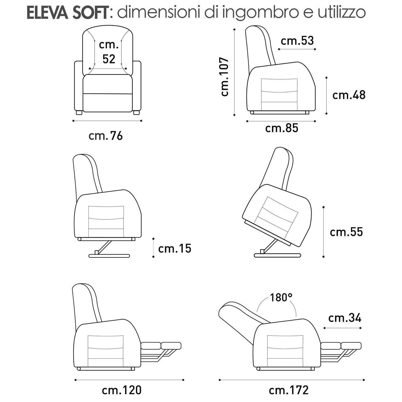Poltrona alzapersona Eleva Soft Ecopelle 08