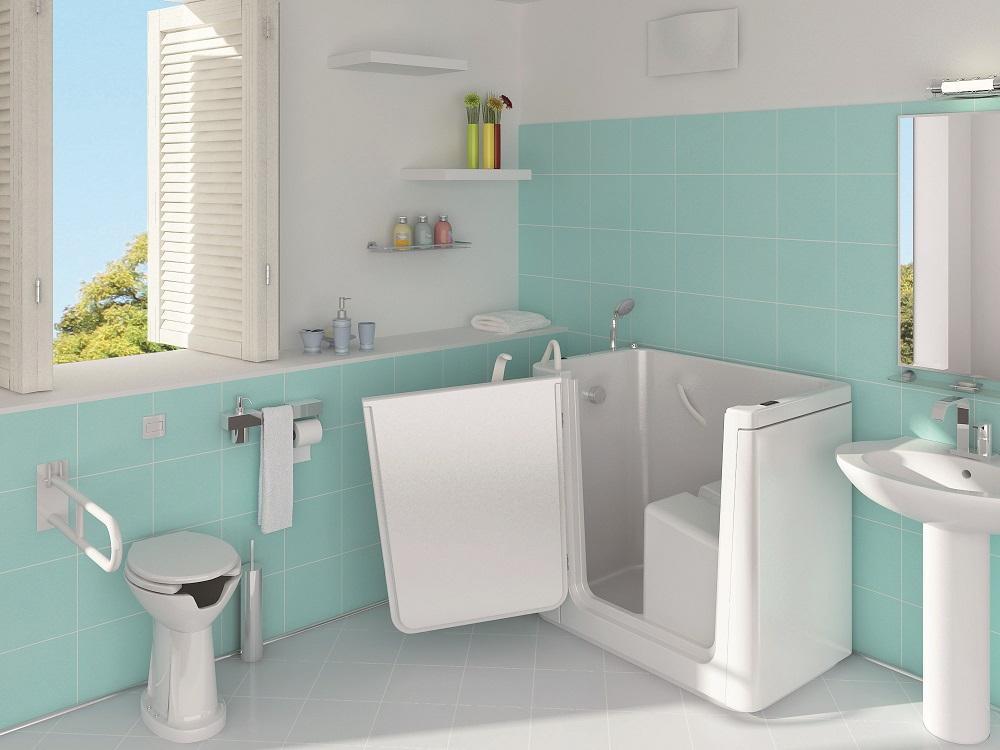 Vasche Da Bagno A Sedere Dimensioni : Vasca da bagno angolare ibis