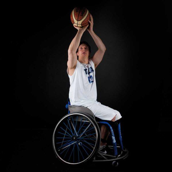 Wind Titanio Carrozzina da Basket 6