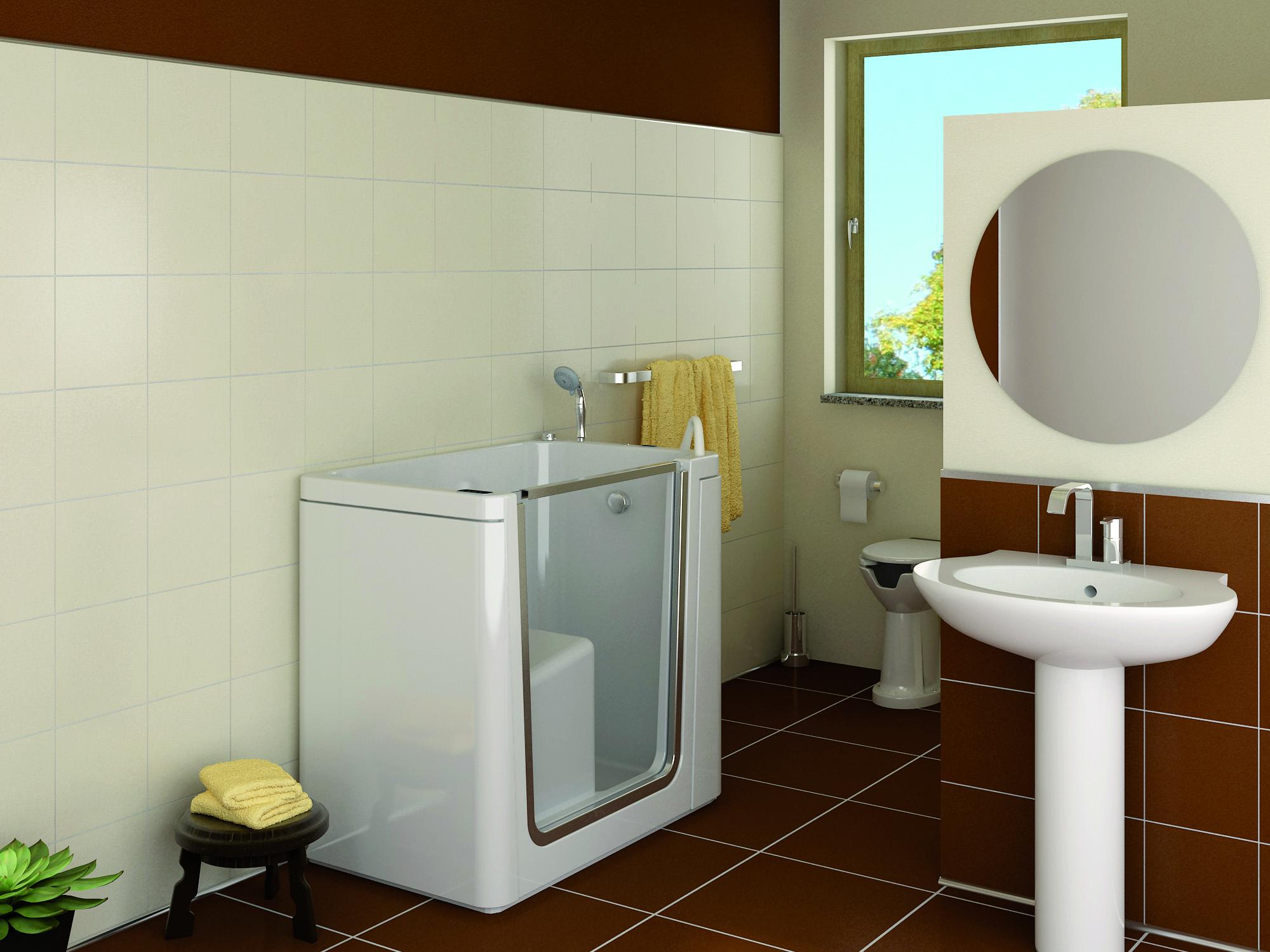 Vasche Da Bagno Apertura Laterale Misure : Itaca vasca con sportello removibile per disabili e anziani
