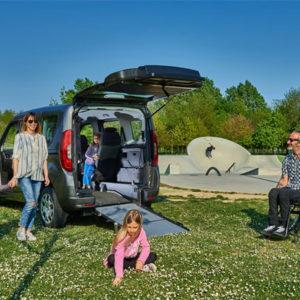 Fiat Doblò F-Style One per trasporto disabili in carrozzina con rampa