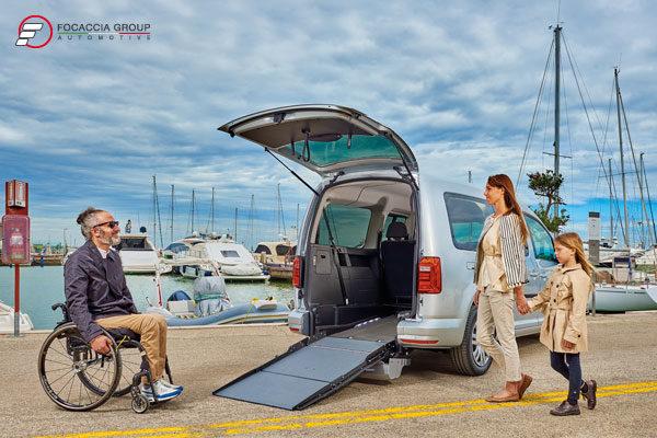 Volkswagen Caddy Maxi F-Style 3 allestimento per disabili in carrozzina