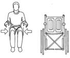 Larghezza del sedile per carrozzina per disabili