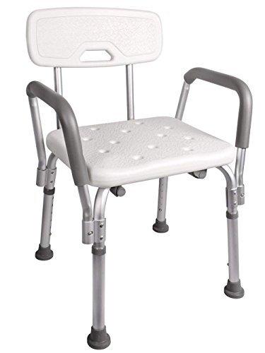 Sedile da doccia con schienale e braccioli