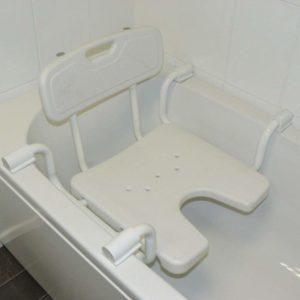 Sedile per vasca da bagno regolabile