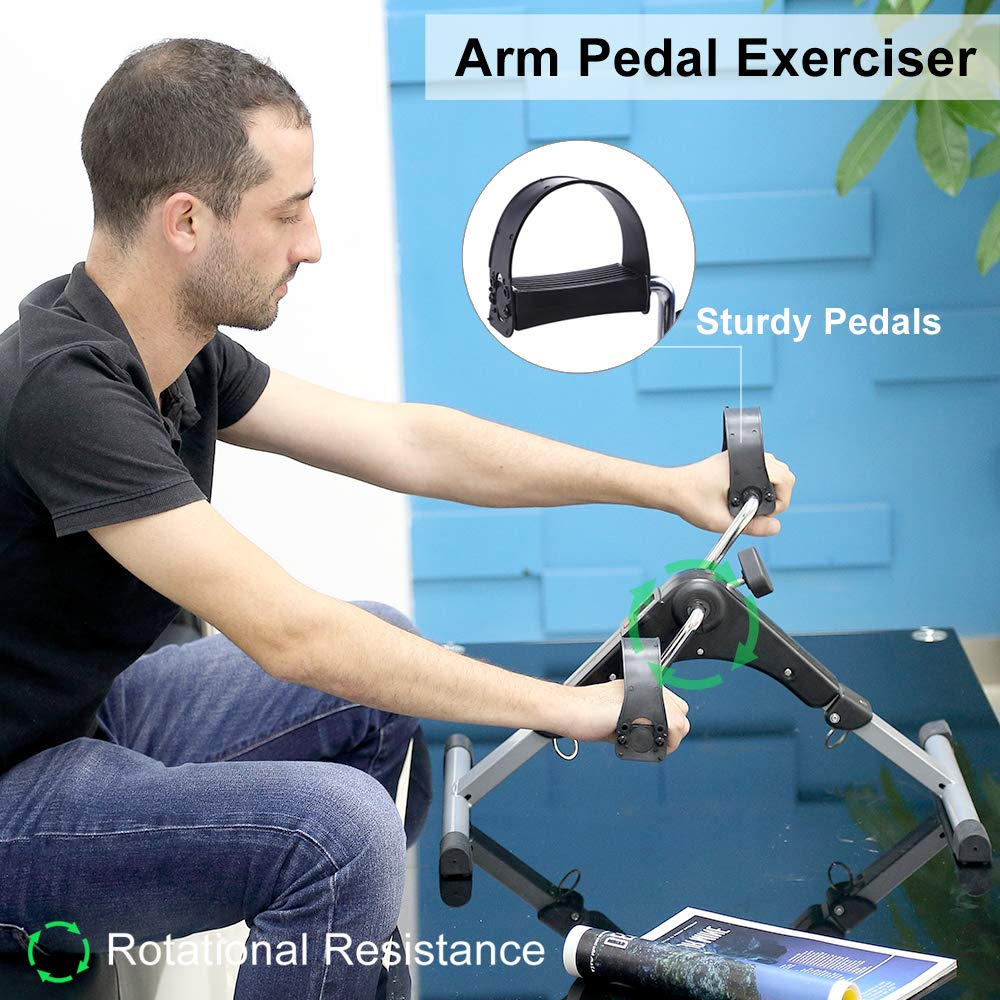 AGM Mini Cyclette Pedaliera pieghevole per Braccia e Gambe