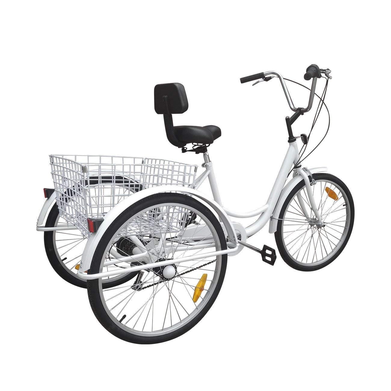 Bici a 3 ruote Urban Paneltech per adulti 6 velocitàe cestino00