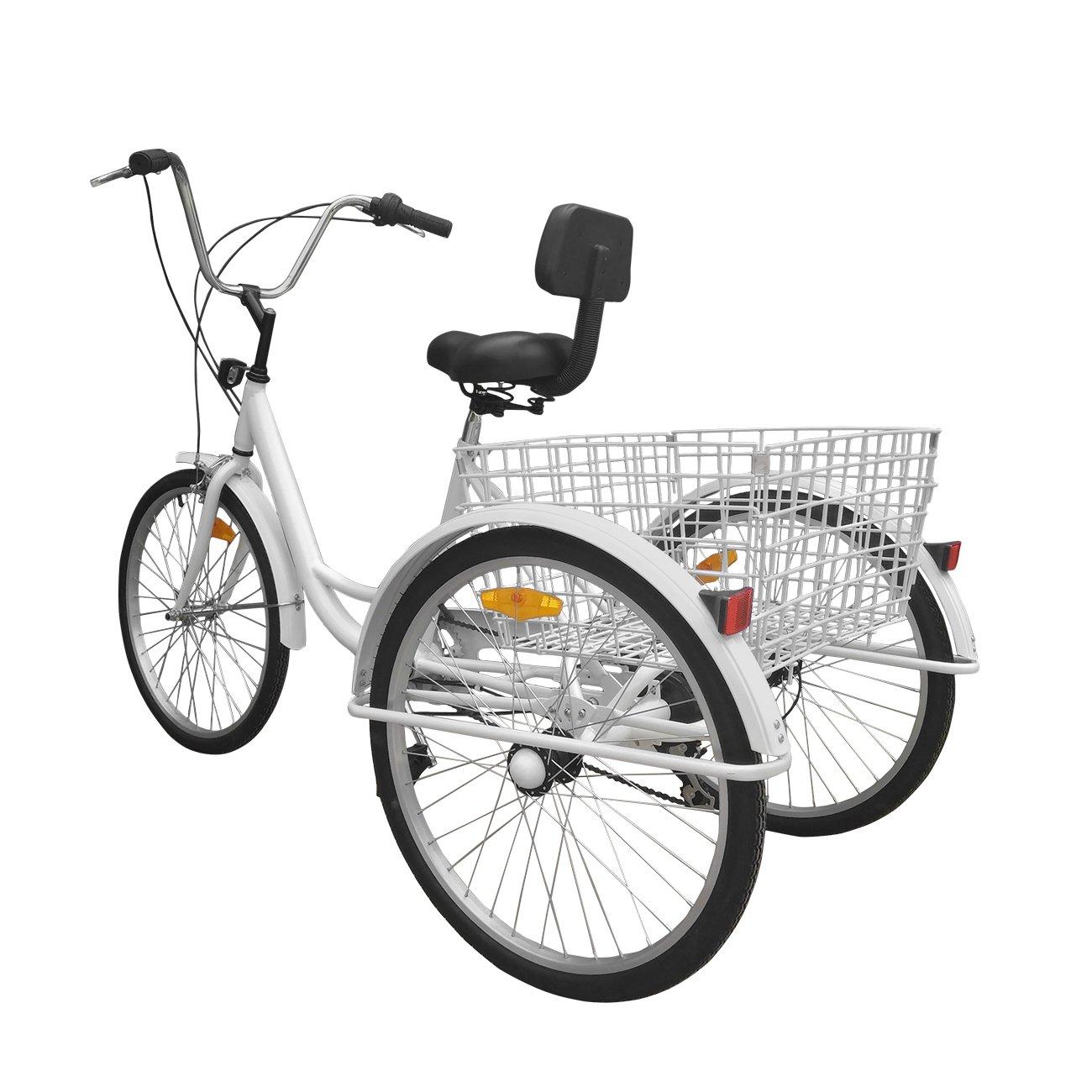 Bici a 3 ruote Urban Paneltech per adulti 6 velocitàe cestino02