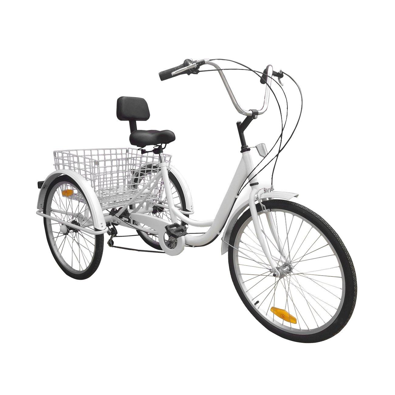 Bici a 3 ruote Urban Paneltech per adulti 6 velocitàe cestino03