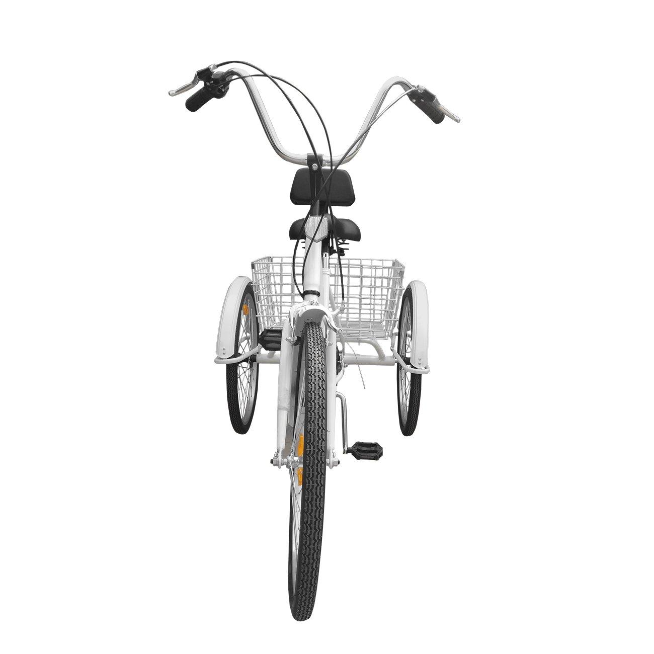 Bici a 3 ruote Urban Paneltech per adulti 6 velocitàe cestino04
