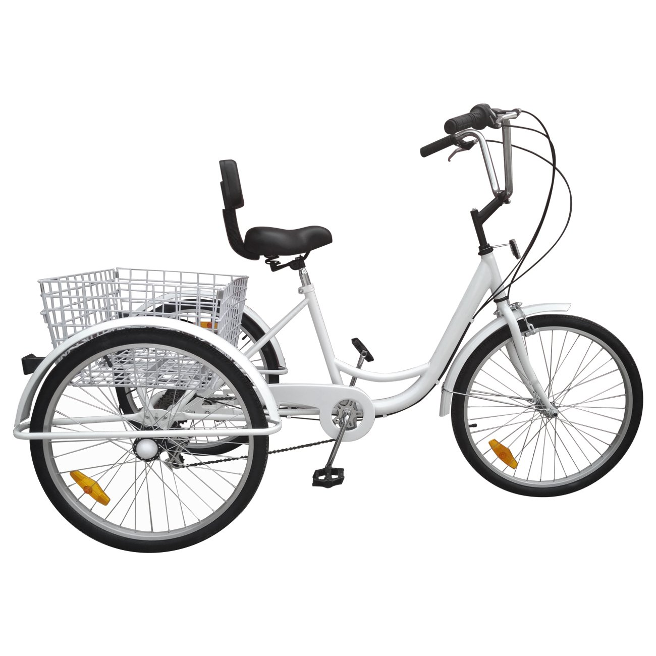 Bici a 3 ruote Urban Paneltech per adulti 6 velocitàe cestino05