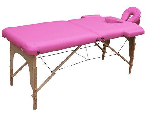 Lettino da massaggio 2 zone legno portatile 12,8 kg richiudibile 01