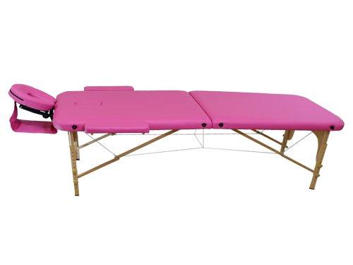 Lettino da massaggio 2 zone legno portatile 12,8 kg richiudibile 02
