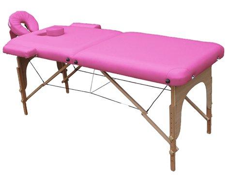 Lettino da massaggio 2 zone legno portatile 12,8 kg richiudibile 03