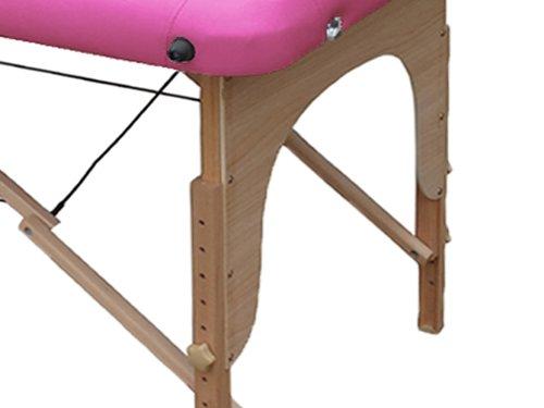 Lettino da massaggio 2 zone legno portatile 12,8 kg richiudibile 04