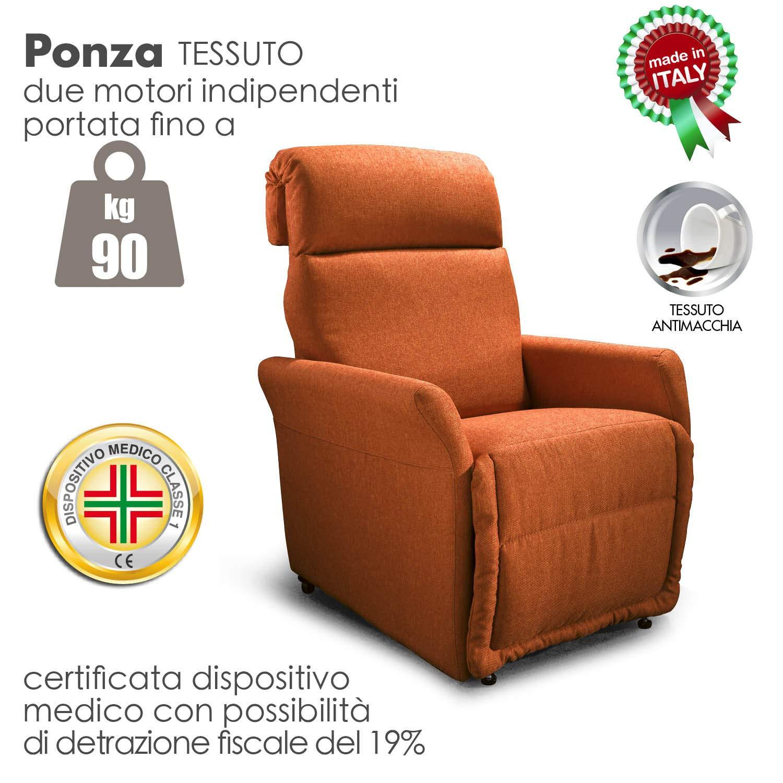 Poltrona alzapersona Ponza Relax, elettrica reclinabile con telecomando 01