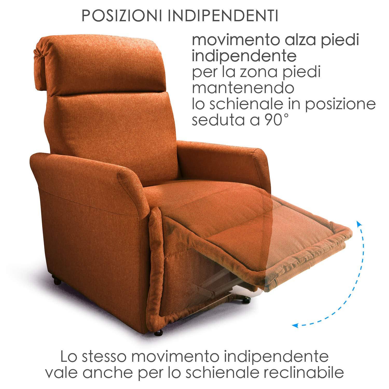 Poltrona alzapersona Ponza Relax, elettrica reclinabile con telecomando 02
