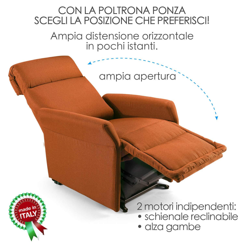 Poltrona alzapersona Ponza Relax, elettrica reclinabile con telecomando 03