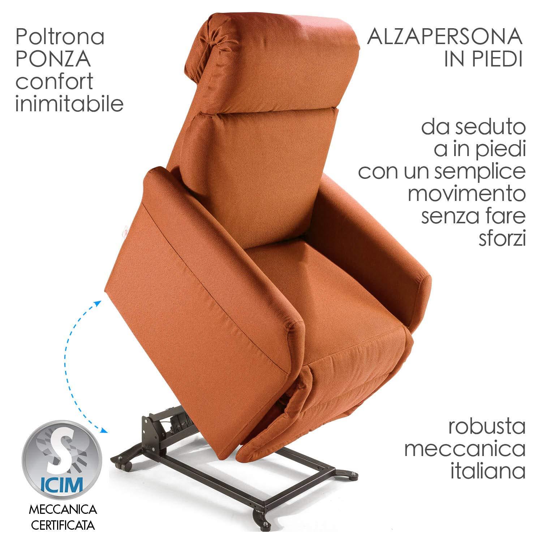 Poltrona alzapersona Ponza Relax, elettrica reclinabile con telecomando 04