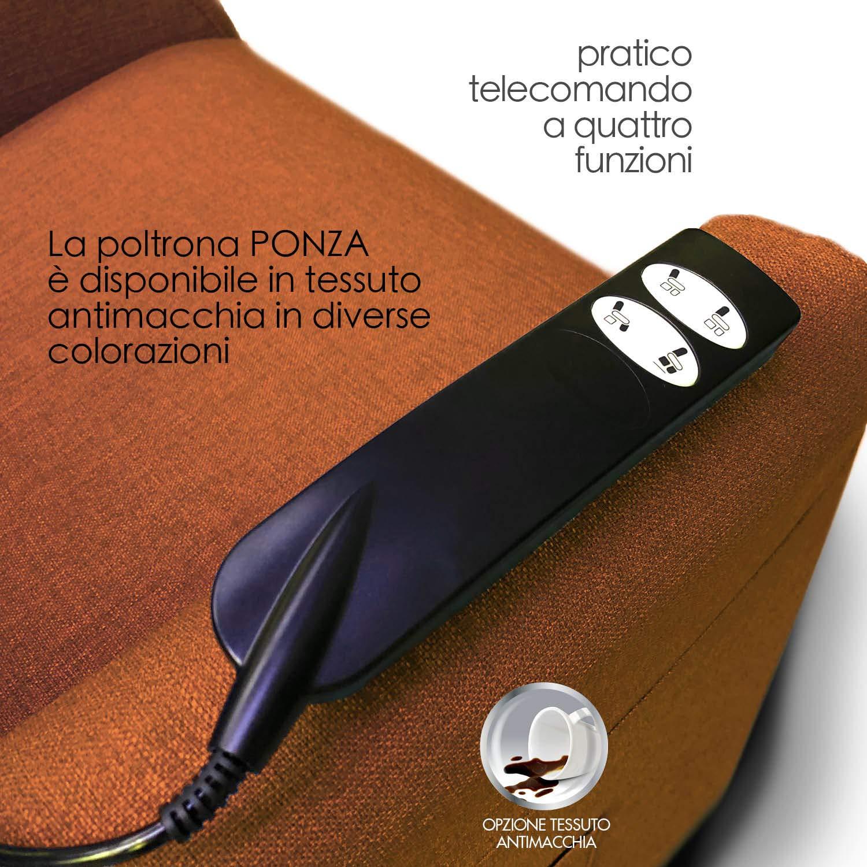 Poltrona alzapersona Ponza Relax, elettrica reclinabile con telecomando 06
