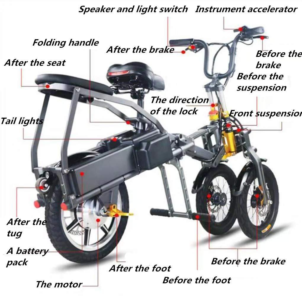 Triciclo Pieghevole Portatile Elettrico per il Traffico Urbano 01