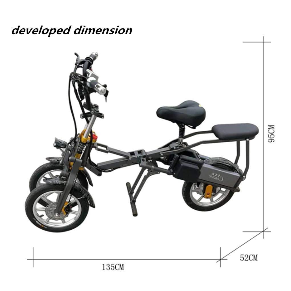Triciclo Pieghevole Portatile Elettrico per il Traffico Urbano 03