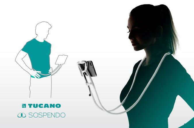 Tucano SOSPENDO supporto a mani libere utilizzabile con tablet e smartphone 00
