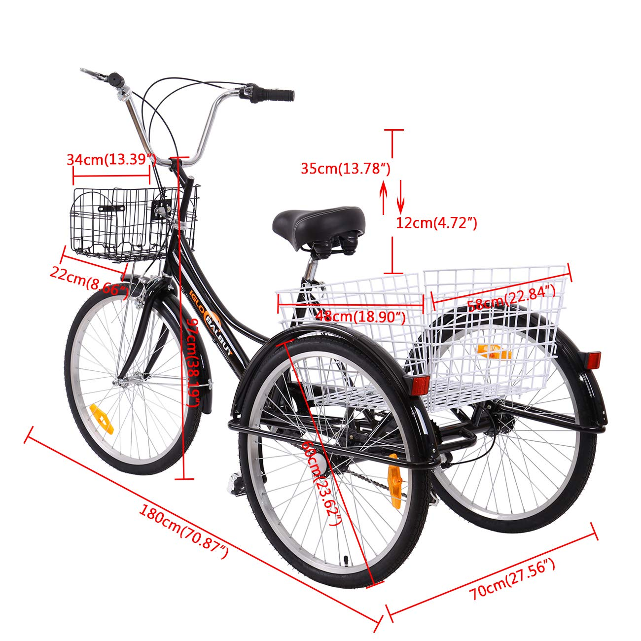 Yonntech Triciclo per Adulti