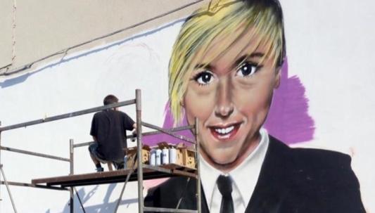 Nadia Toffa murales a Taranto