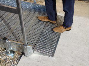 rampa disabili metallo