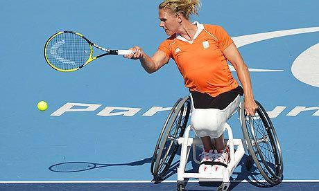 Esther Vergeer tennista olandese in carrozzina