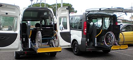 Auto usate per trasporto disabili in carrozzina