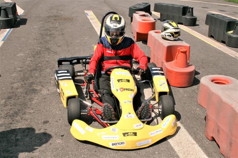 Niko Tremolada wheelchair karting