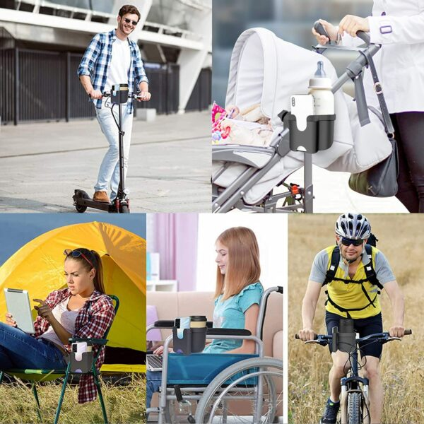 Portabicchieri e Smartphone per Carrozzine e Bici per disabili