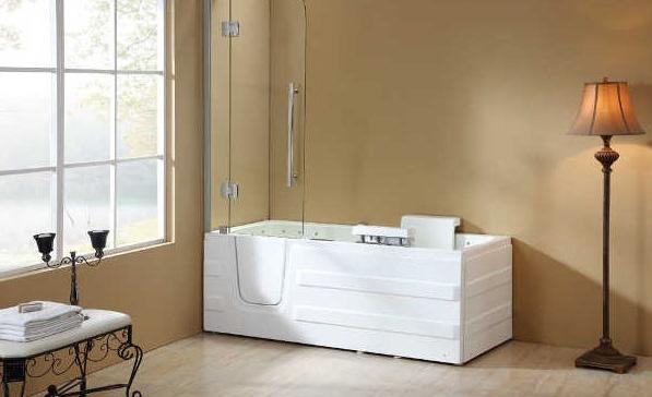 Vasca da bagno con sportello per anziani e disabili