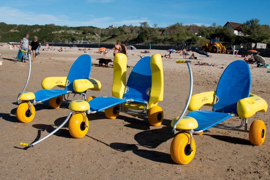 Carrozzine spiaggia sedia mare disabili